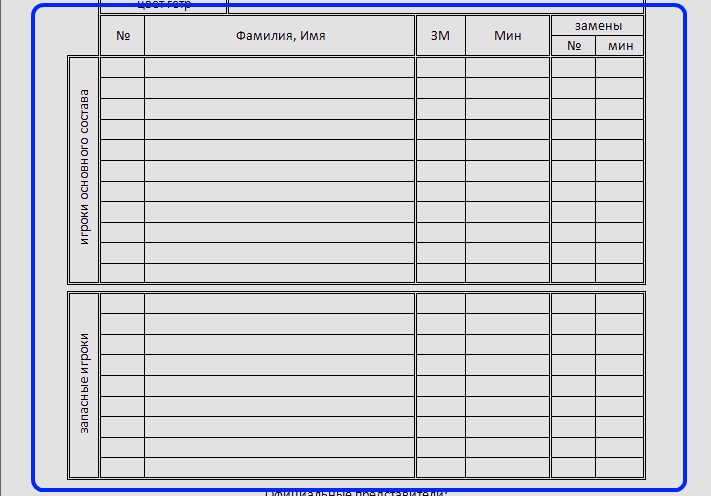 бланк протокола по футболу - фото 3